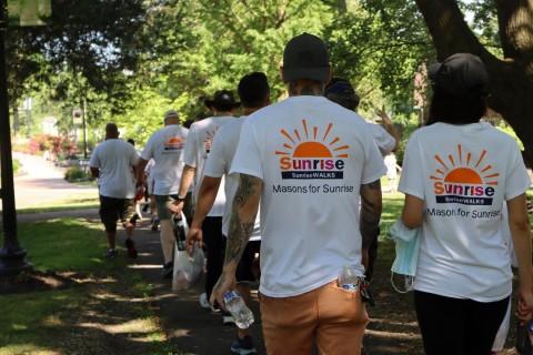 Huntington's Masonic Lodge raises thousands for Sunrise Walks