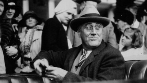 Franklin D. Roosevelt visits Jephtha Lodge in Huntington