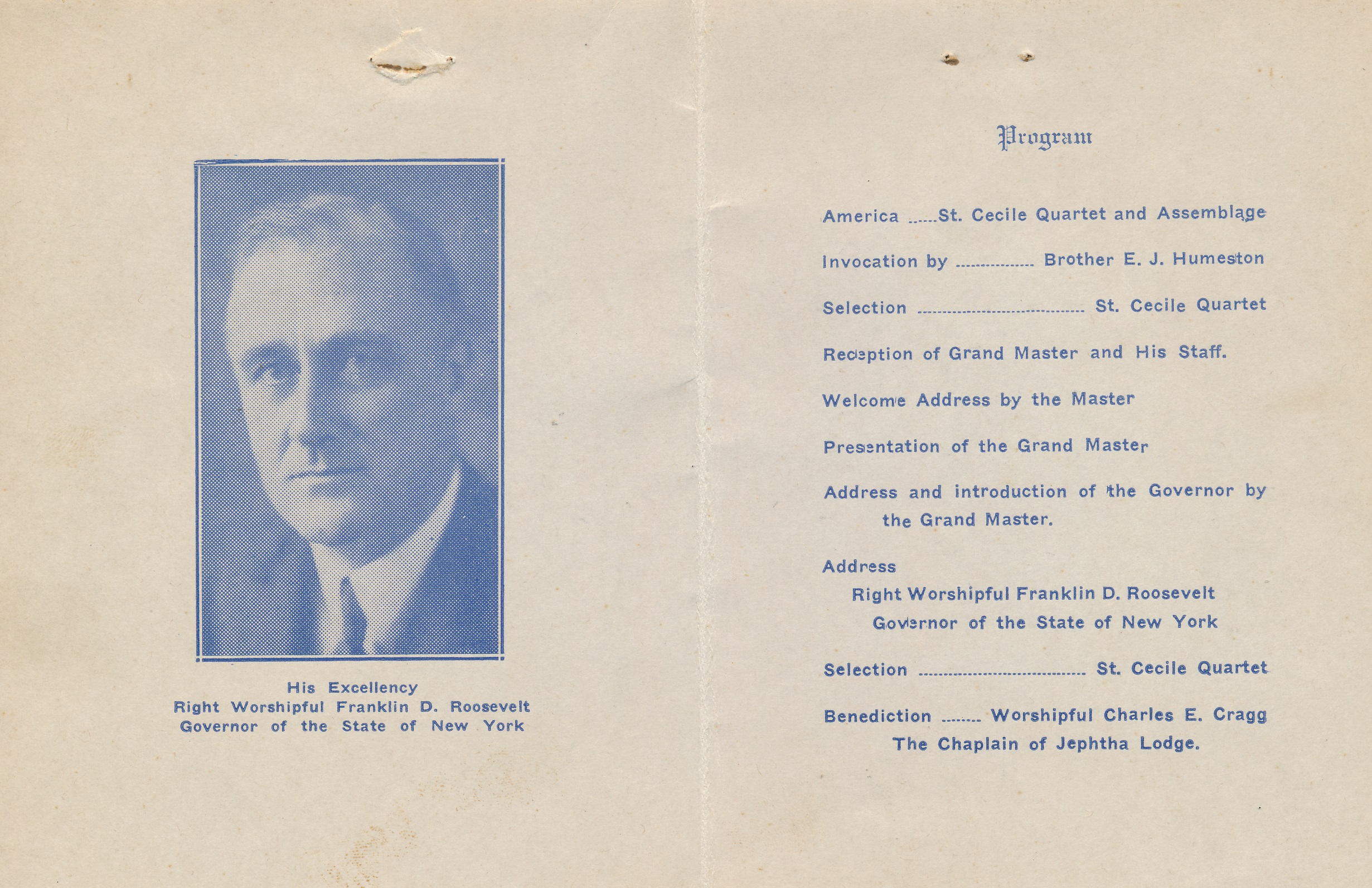 Franklin D  Roosevelt visits Jephtha Lodge in Huntington