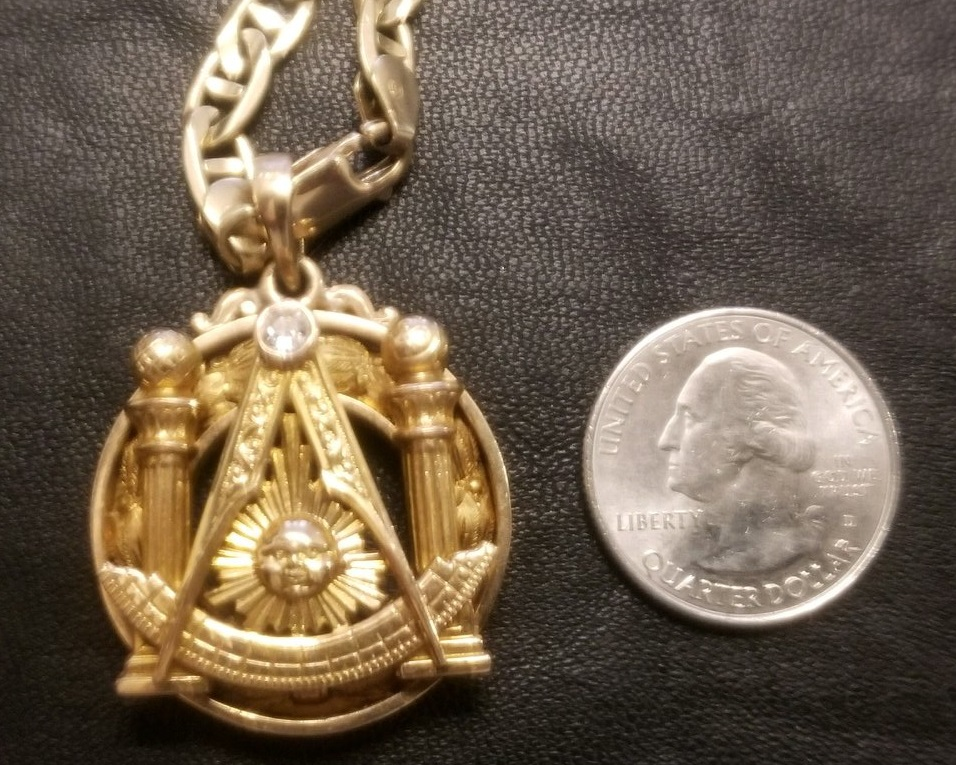 Masonic Past Master medallion